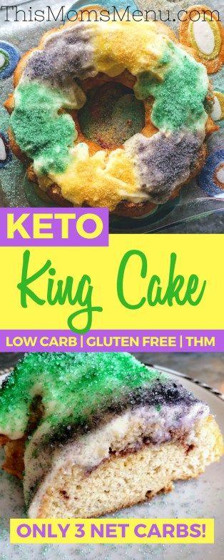 MARDI GRAS KING CAKE   KETO, GLUTEN FREE