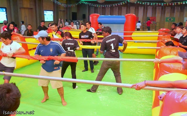 Fancy a game of human foosball?