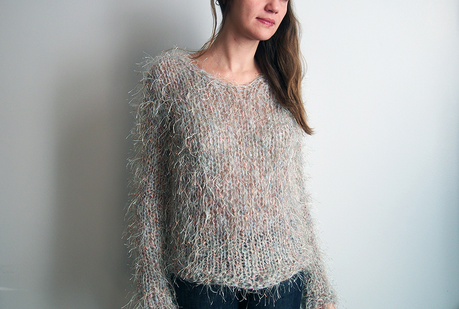 Yes I Made A Sweater Out Of Novelty Yarn