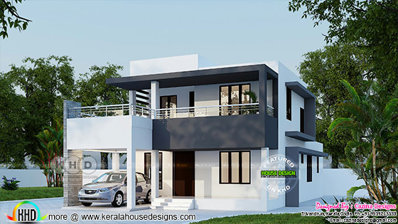 2400 square feet flat roof 4 bedroom house