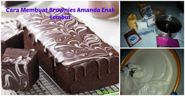 Pasti Sudah Tahu Lezatnya Brownies Amanda kan ?? Gimana Kalau Kita Bikin Sendiri Yuuk, Intip Resepnya Disini !!