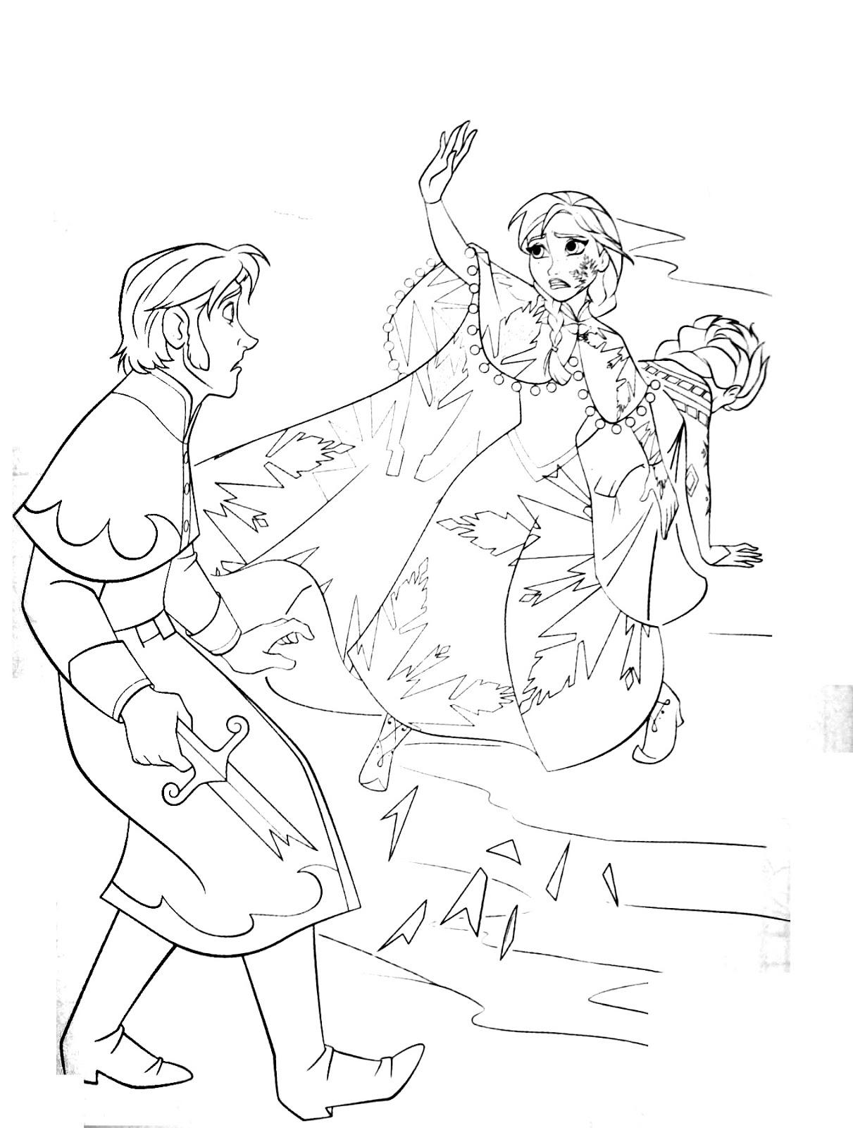 Tranh tô màu Elsa và Anna 14