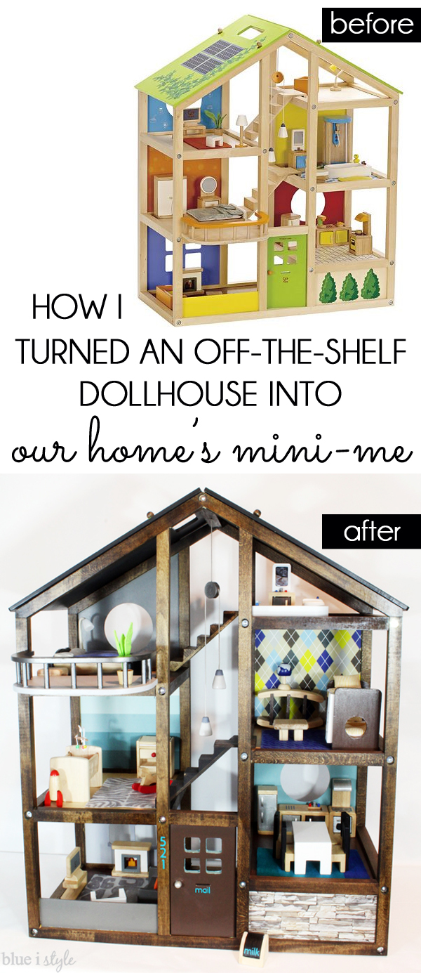 Customize a wood dollhouse