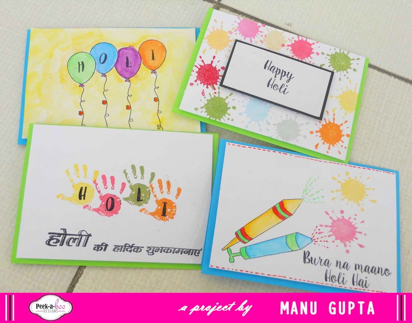 Card Making Ideas For Holi Part - 41: Iu0027m Sure Gonna Make Some More Of These Lovely Ones And Gift Them To My  Family And Friends!!!