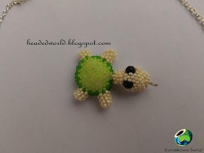żółw z koralików