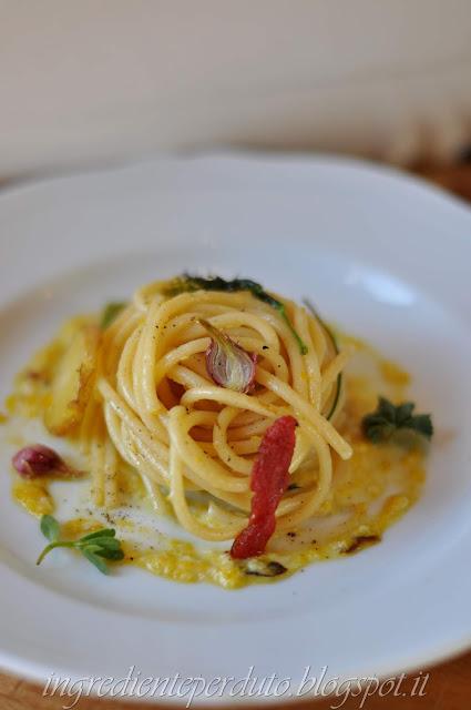 spaghetti crema cipolla egiziana-ingrediente perduto