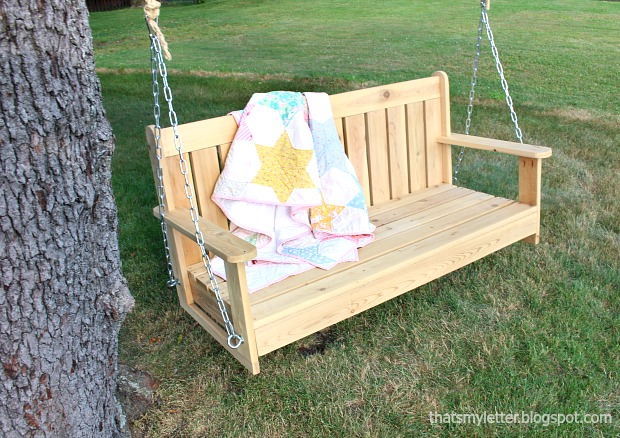 diy swinging bench