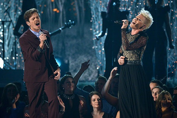 Speech Pink and Nate Ruess Grammy Awards 2014