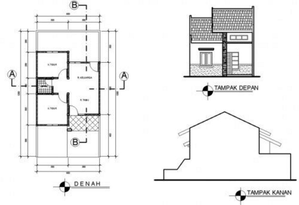 Layout Denah Rumah Minimalis Type 36 72 Populer