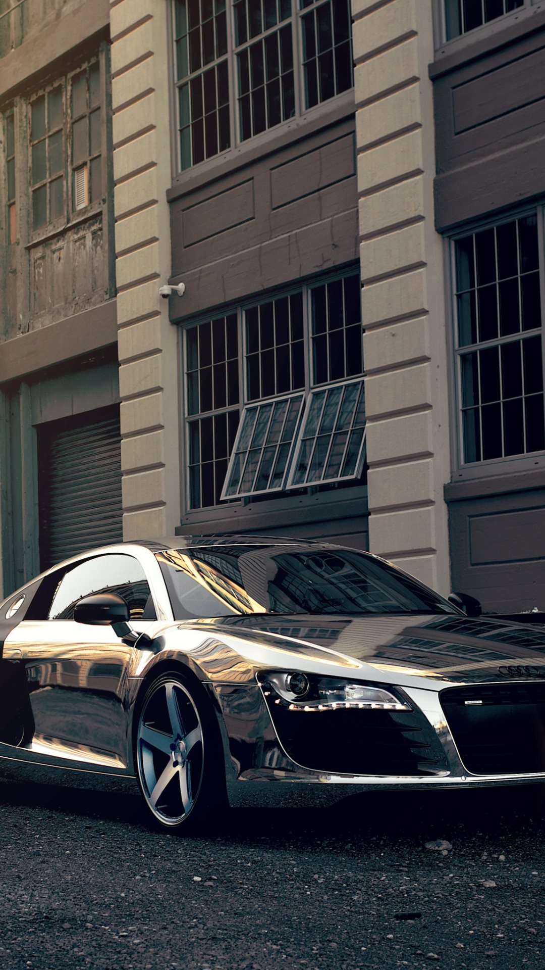 Super Car Audi Chrome Hd Wallpapers