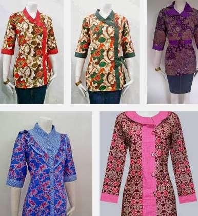40 Model Baju Batik Terbaru Untuk Wanita 2017
