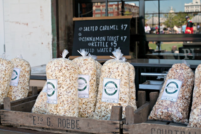 You can find everything from southern style comfort food to wood fired pizza to freshly popped kettle corn and more at the Magnolia Market food truck park.
