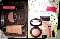 Laura Gellar Hoilday spackle baked blush lipgloss primer collection review haul