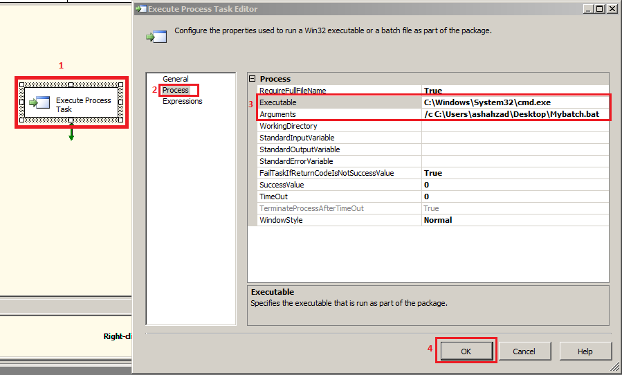 Welcome To TechBrothersIT: SSIS - How To Execute Batch File By Using