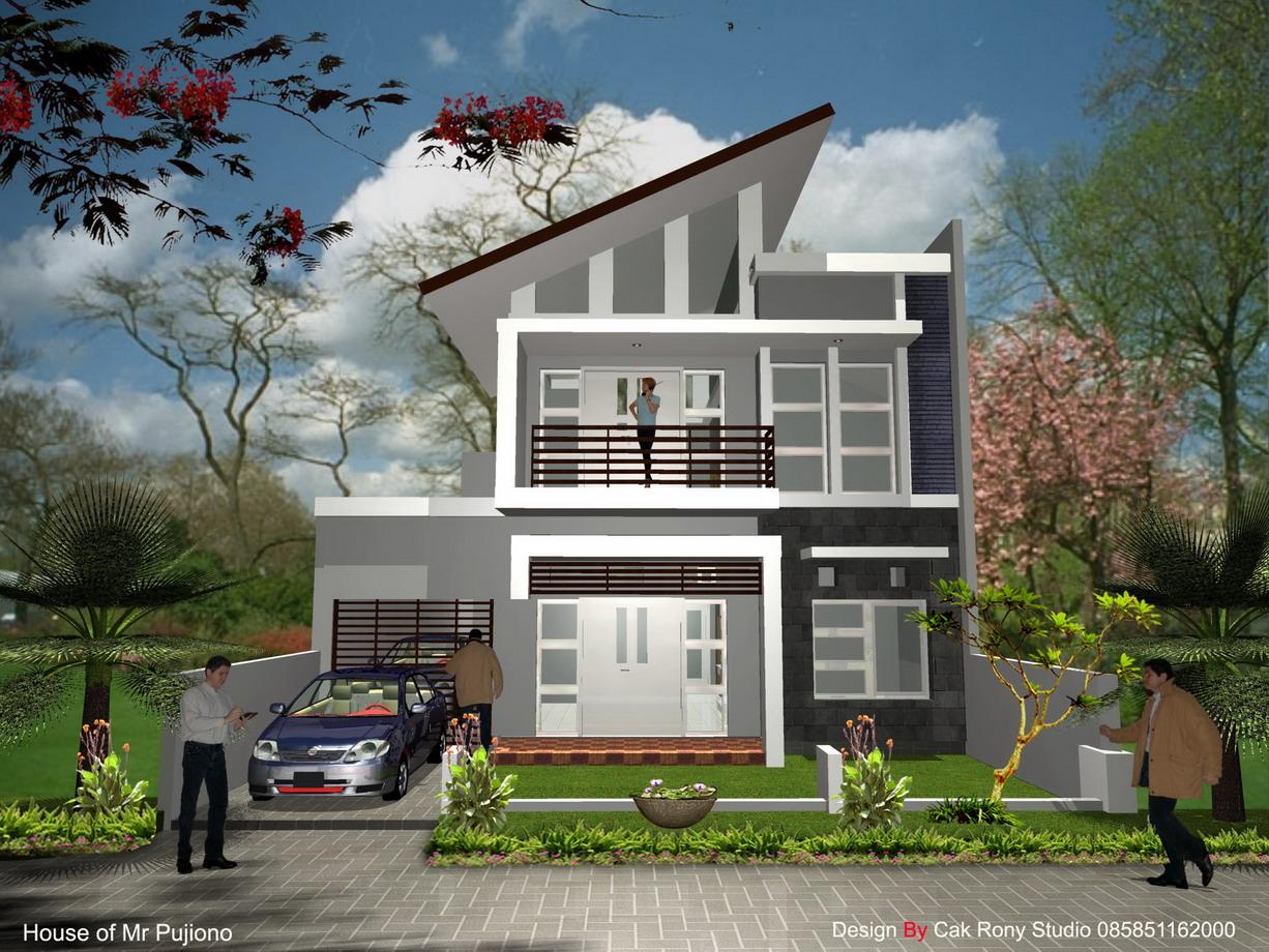 Dunia Arsitek Contoh Rumah Minimalis Modern 2 Lantai