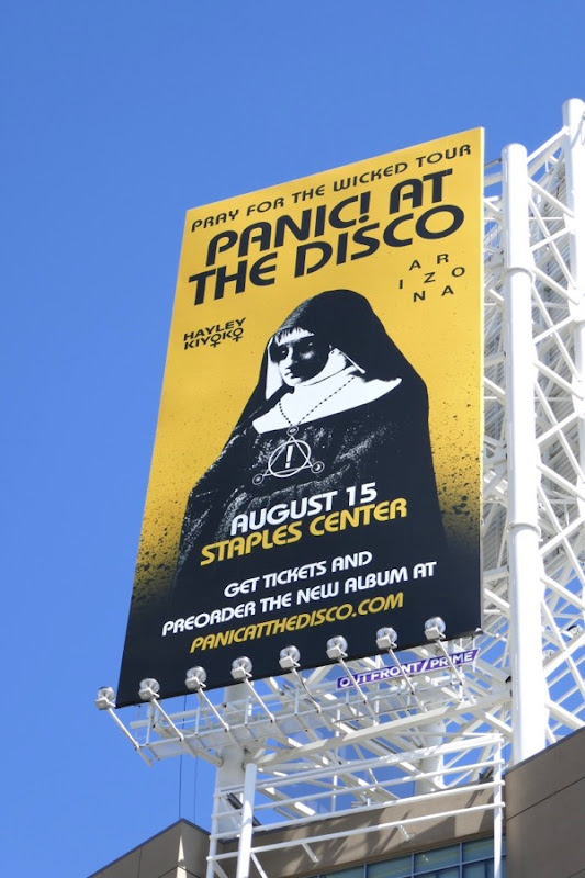 Panic At Disco Pray for Wicked Tour billboard