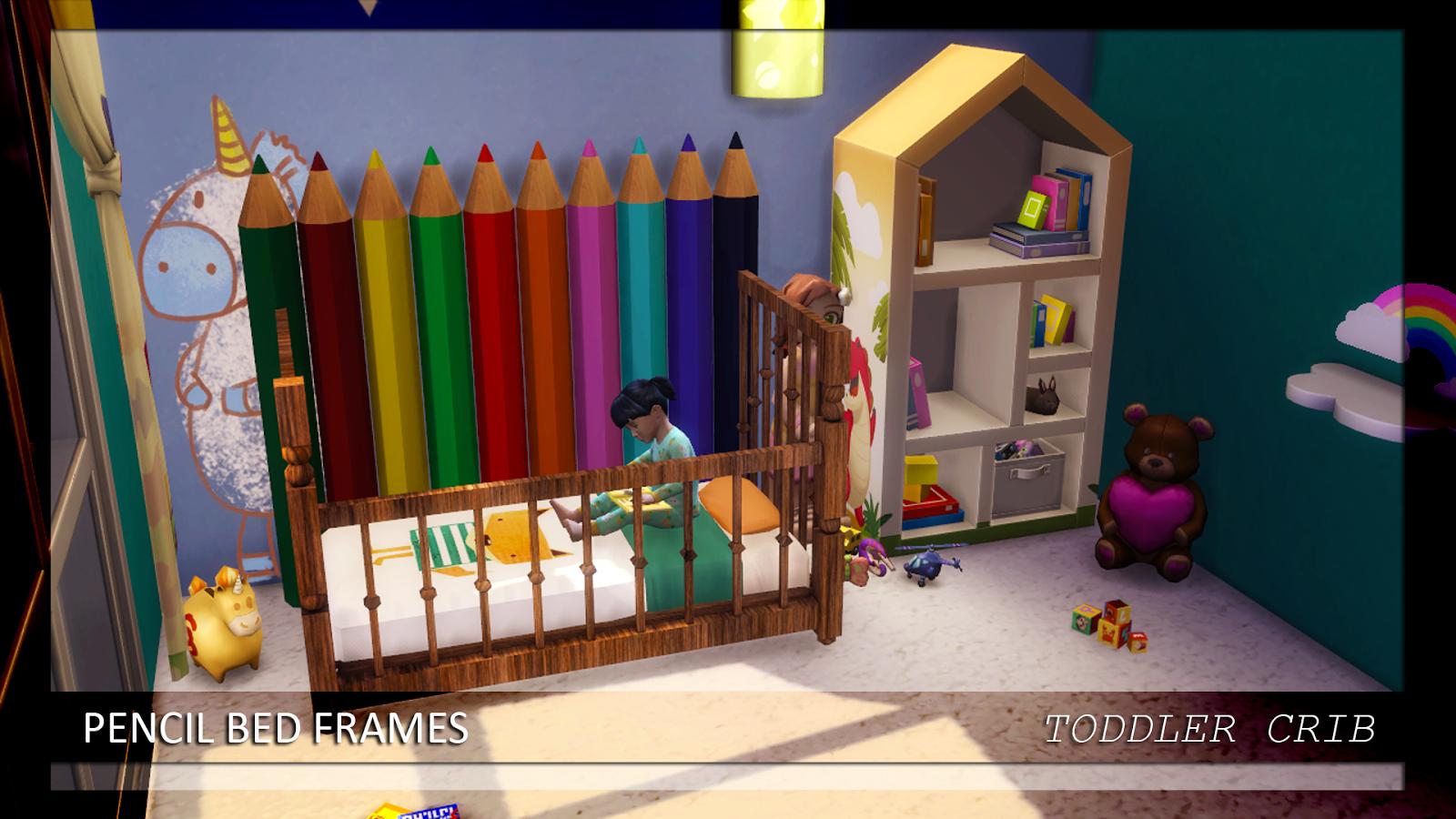 Enure Sims Pencil Bed Frames Double Single Toddler Crib