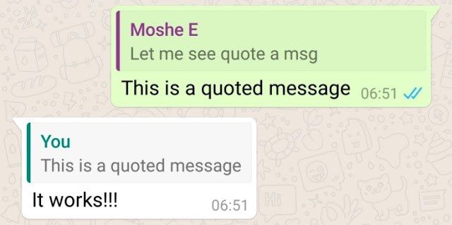 WhatsAppv2.16 APK Update with New Message Quotes and Replies Feature