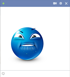Lip-Biting Sticker For Facebook