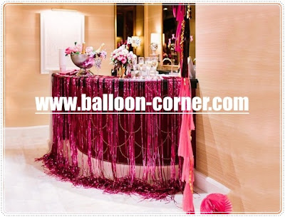 Hot Pink Foil Curtain / Tirai Foil Hot Pink