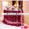 Hot Pink Foil Curtain / Tirai Foil Hot Pink