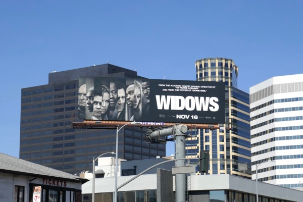 Widows film billboard