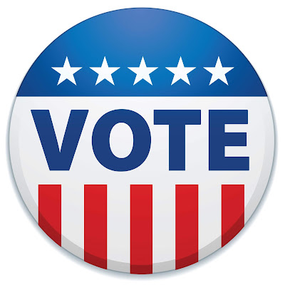 Image of a button that says vote