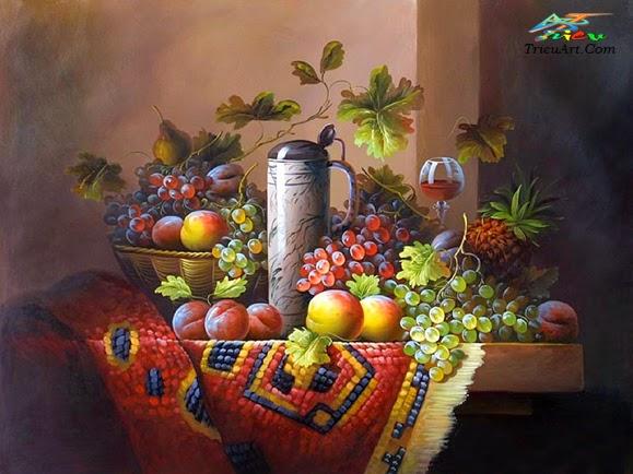 vẽ tranh sơn dầu đẹp