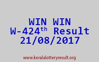 WIN WIN Lottery W 424 Results 21-8-2017