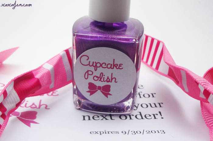 xoxoJen's bottle of Cupcake Polish Purple Rain