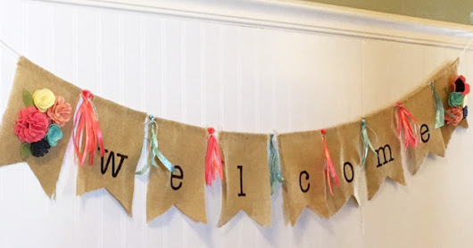 Stamped Silly: Fun Friday! A Banner Welcome