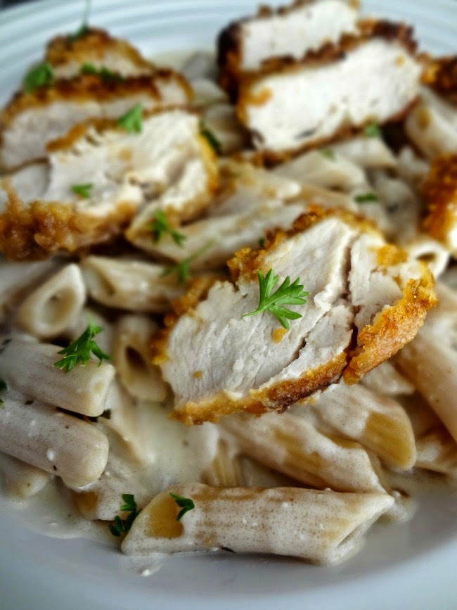 Crispy Chicken with Italian Sauce & Noodles