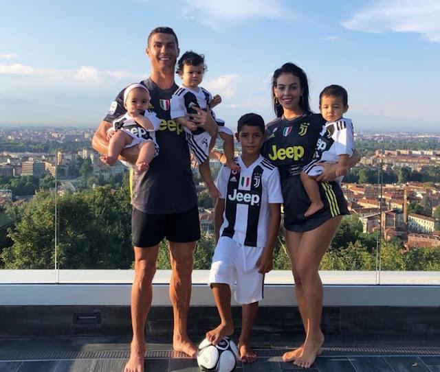 Cristiano Ronaldo Gerogina Rodriguez gemelas