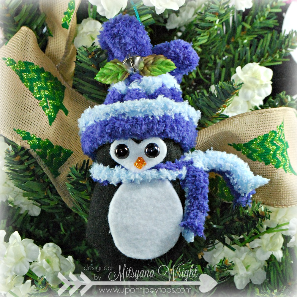 Up On Tippy Toes: No-Sew Sock Penguin Christmas Ornaments