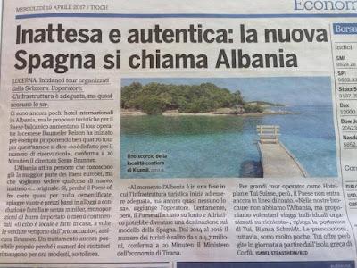 Inattesa e autentica : la nuova Spagna si chiama Albania