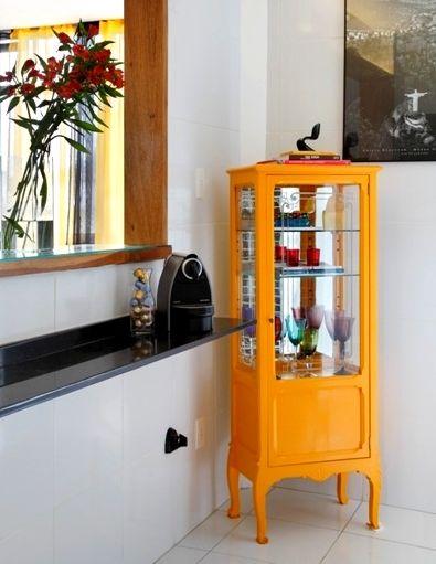 Artesanato Passo A Passo Facil ~ Casinha colorida Cristaleiras, armários e seus interiores