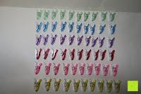 sortiert: GWHOLE Stoffklammern Wonder Clips Nähen Zubehöre Kunststoff 60 Stück 6 Farben