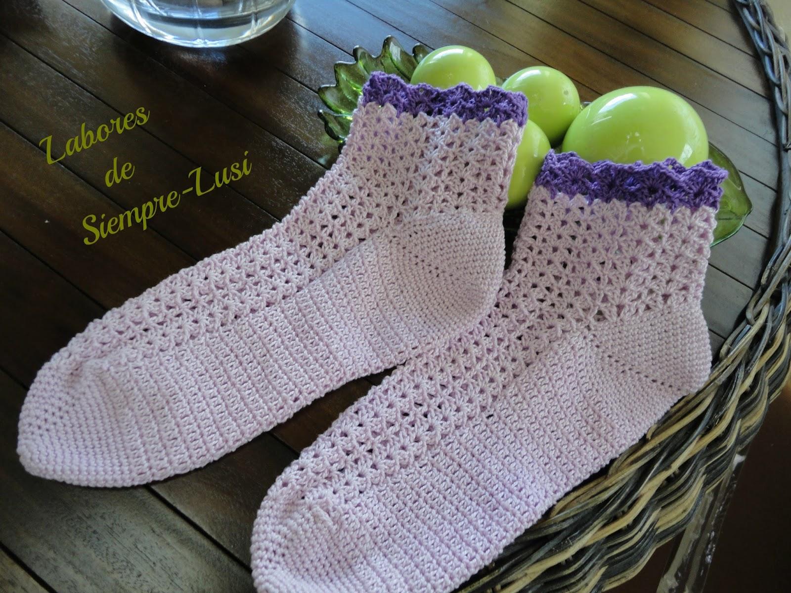 Fantástico Patrón De Crochet Para Los Calcetines De Arranque ...