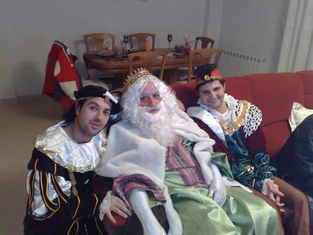 Los pajes con el rey melchor en Guadalajara