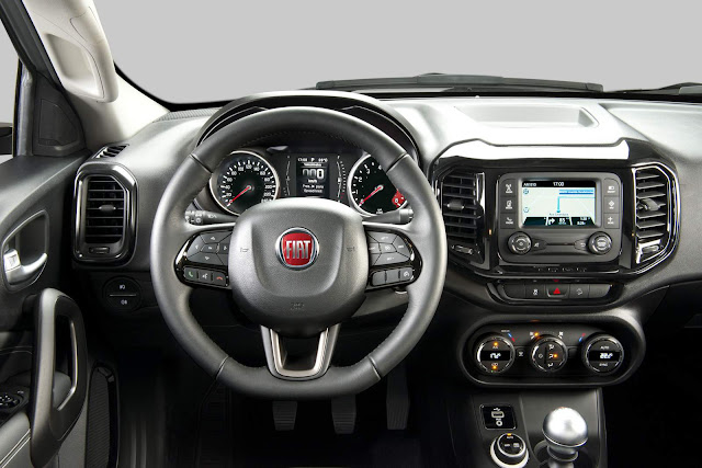 Nova Picape Fiat Toro 2017 - interior - painel