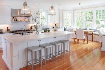 kitchen with bay window decorating ideas