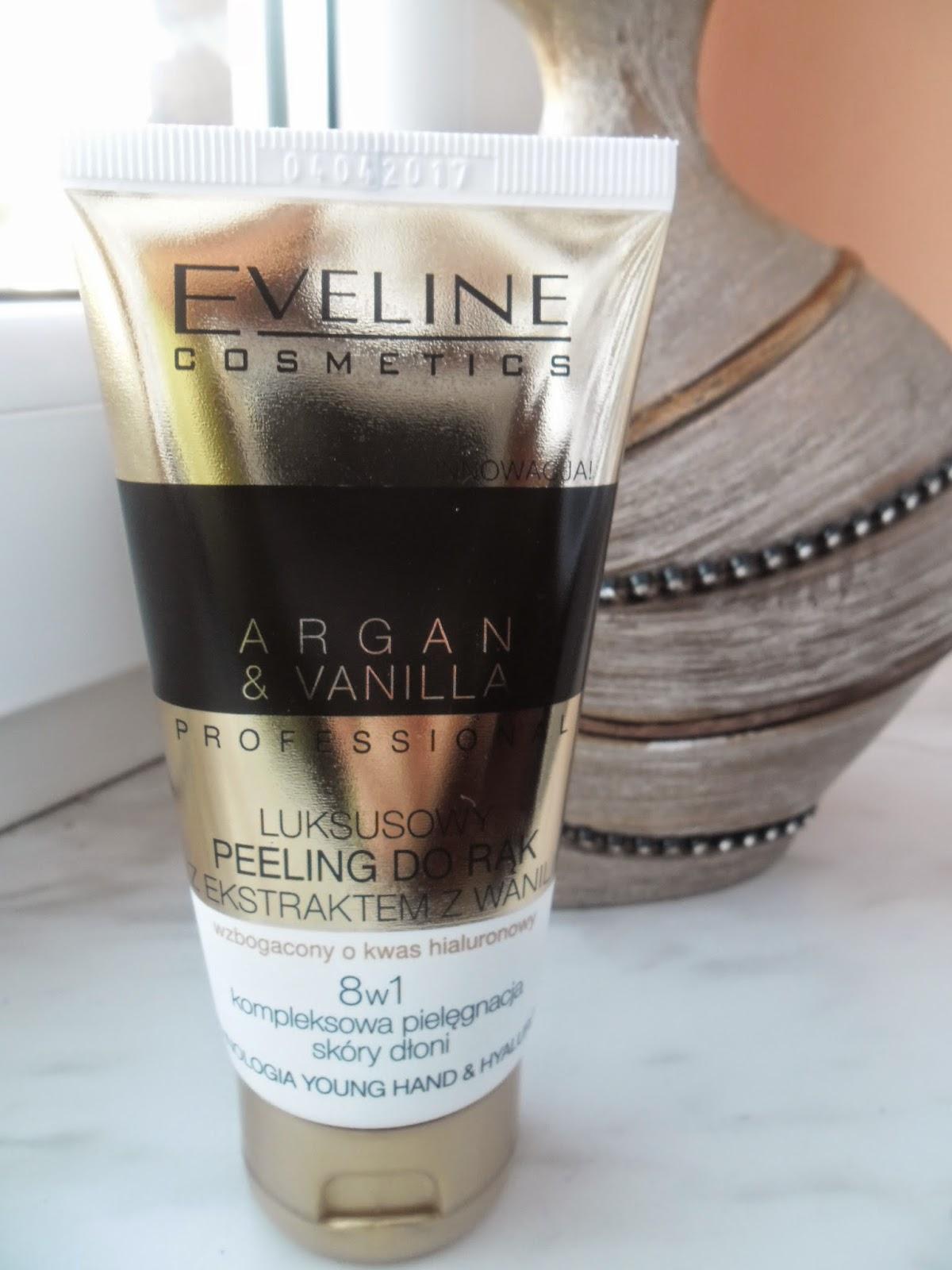 Eveline Argan&Vanilla luksusowy peeling do rąk  z ekstraktem z wanilii