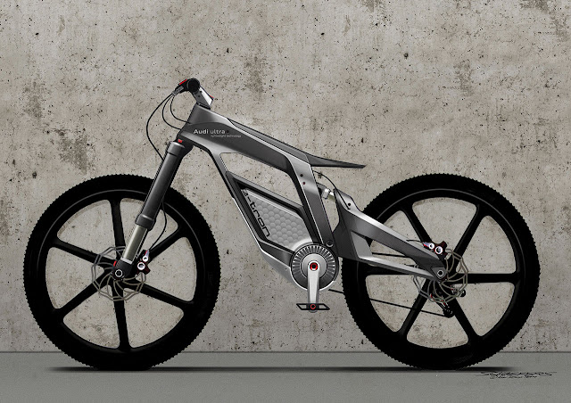 the Audi e-bike Wörthersee left side