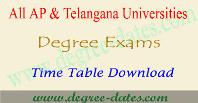 Degree Time Table UG Exam Dates