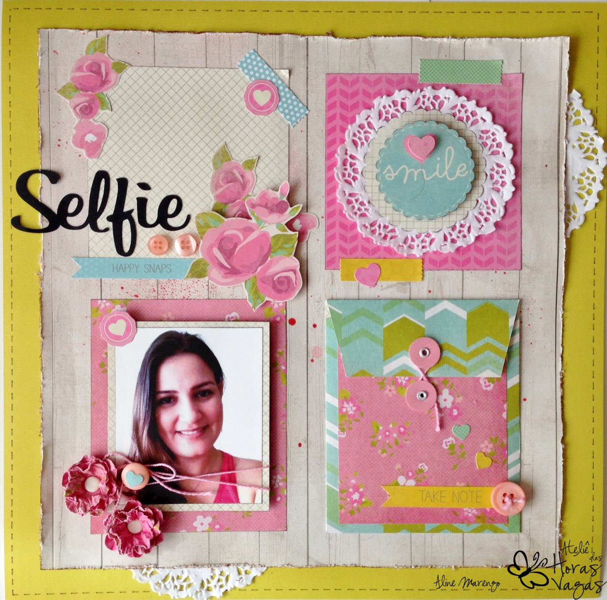 scrapbooking scrap scrapbook confetti kaiser craft paper layout selfie