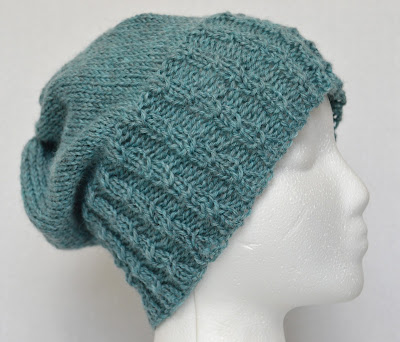 slouchy beanie for sale at https://www.etsy.com/shop/JeannieGrayKnits