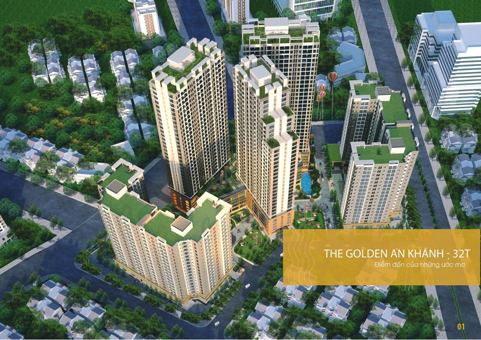 Quy mô chung cư The Golden An Khánh