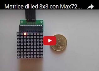 Matrice di led 8x8 con Max7219 collegata ad Arduino UNO R3