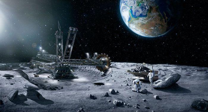 Fotomontaje  en la luna