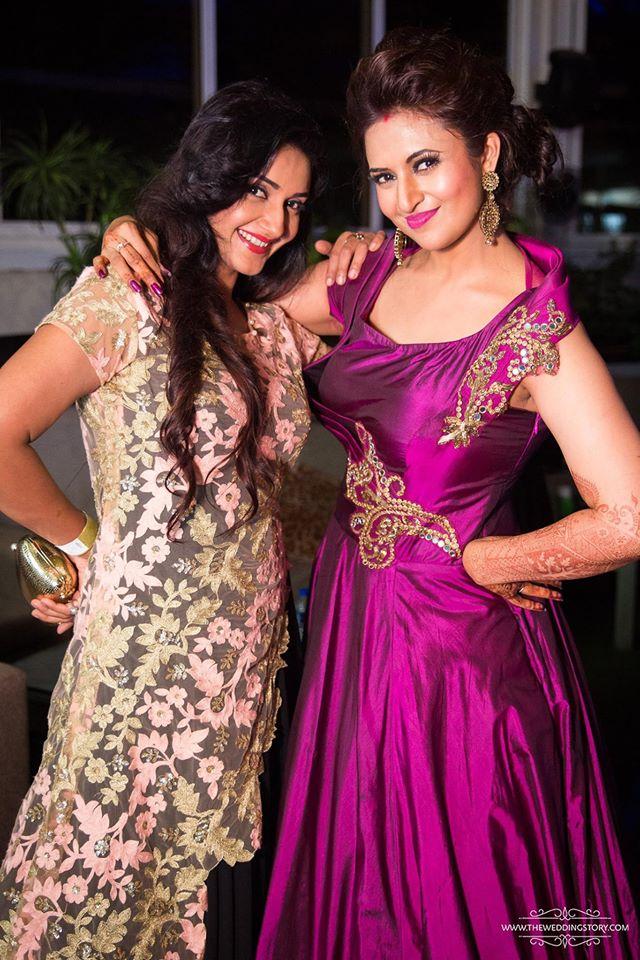 Divyanka Tripathi Vivek Dahiya Wedding Reception Bling